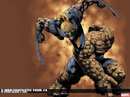 X-Men/Fantastic Four (2004) #4 Wallpaper