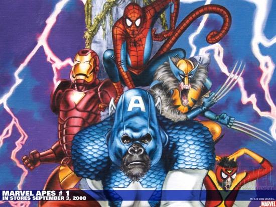 Marvel Apes (2008) #1 (BACHS VARIANT) Wallpaper