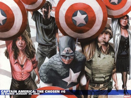 Captain America: The Chosen (2007) #6 (50/50 CHAREST COVER) Wallpaper