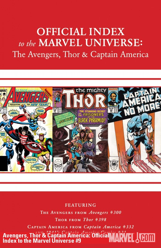 Avengers, Thor & Captain America: Official Index to the Marvel Universe (2010) #9