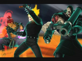 Ghost Rider, Nemesis and Akuma in Ultimate Marvel vs. Capcom 3 for the PlayStation Vita