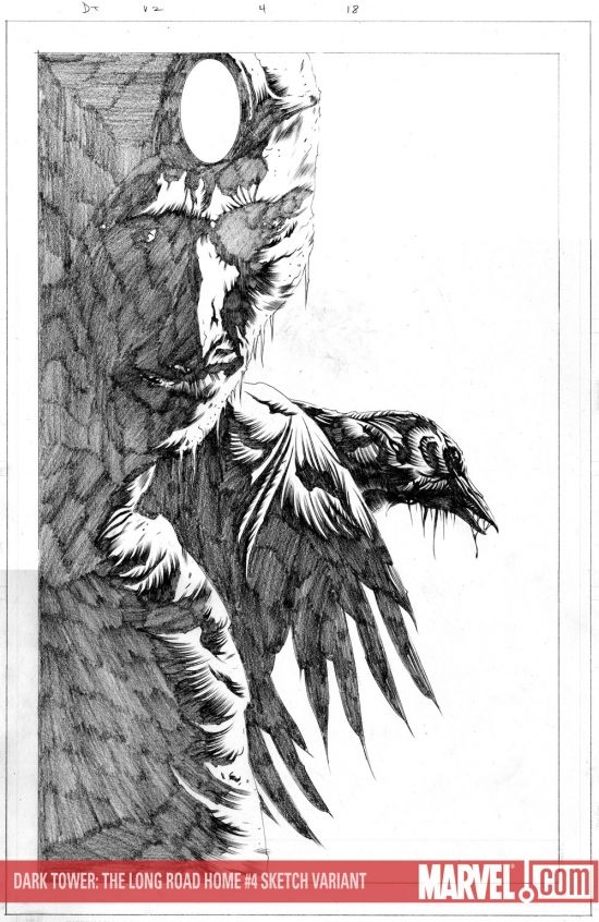 Dark Tower: The Long Road Home (2008) #4 (SKETCH VARIANT)