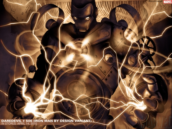 Daredevil #506 Iron Man by Design variant cover by Marco Checchetto