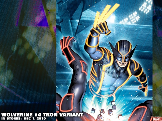Wolverine #4 Tron variant cover by Brandon Peterson