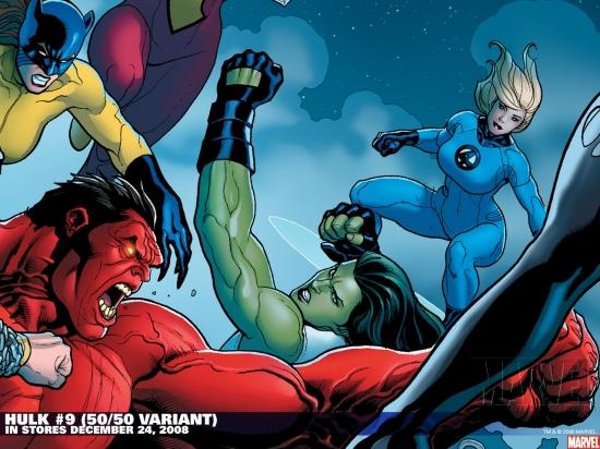 Hulk #9 variant cover by Frank Cho