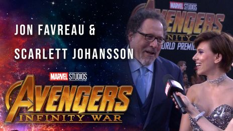 Scarlett Johansson and Jon Favreau Live at AIW
