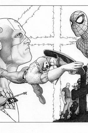 Civil War (2006) #1 (sketch variant)