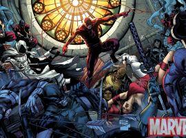 Image Featuring Ghost Rider (Johnny Blaze), Iron Fist (Danny Rand), Moon Knight, Punisher, Spider-Man, Wolverine, The Hand, Bullseye, Misty Knight, Luke Cage, Daredevil