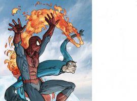 SPIDER-MAN/FANTASTIC FOUR #1 cover by Mario Alberti