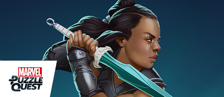 This Asgardian warrior brings her sword skills to the hit mobile game