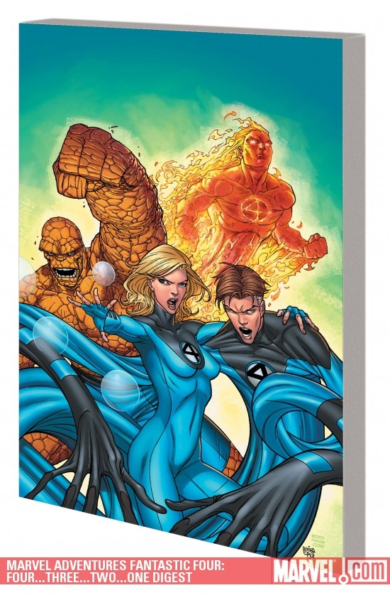 MARVEL ADVENTURES FANTASTIC FOUR: FOUR-THREE-TWO-ONE...DIGEST (Digest)