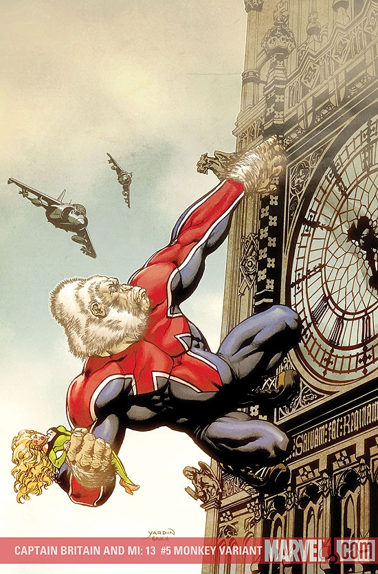 Captain Britain and MI: 13 (2008) #5 (Monkey Variant)