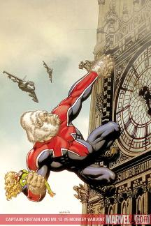 Captain Britain and MI: 13 (2008) #5 (MONKEY VARIANT (1 FOR 10))