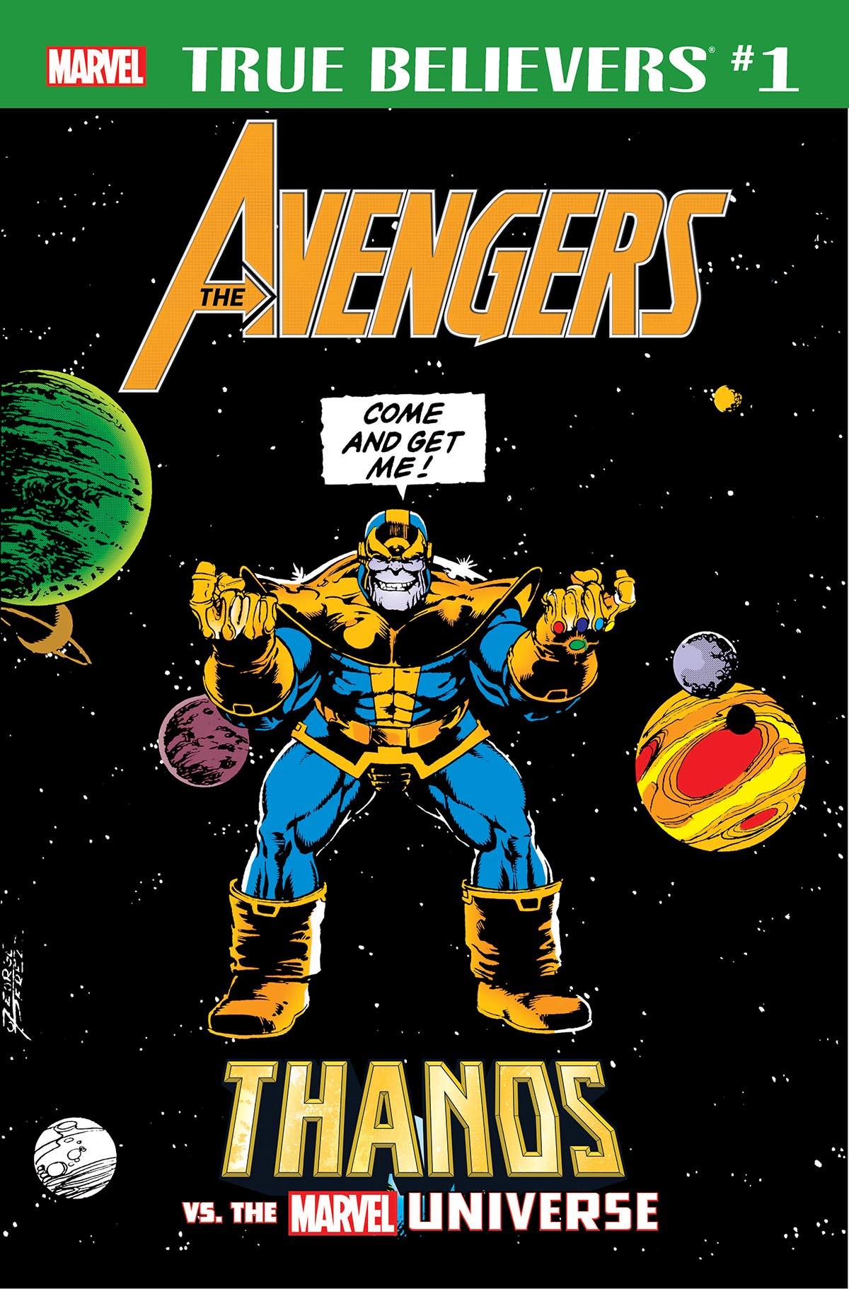 True Believers: Avengers - Thanos Vs. The Marvel Universe (2019) #1