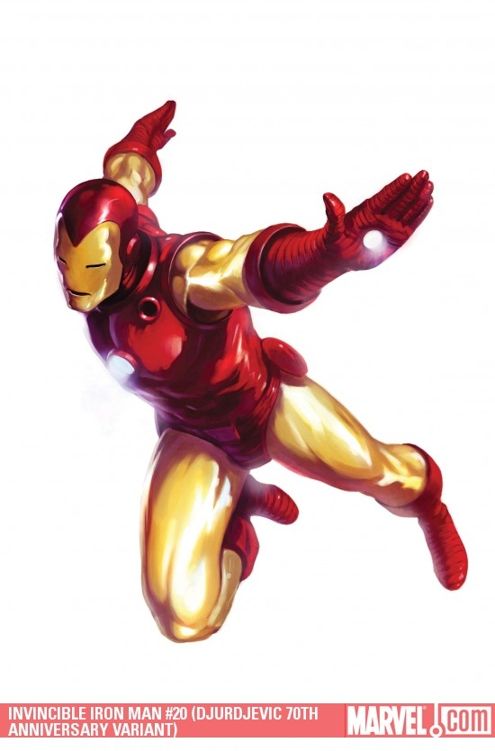 Invincible Iron Man (2008) #20 (DJURDJEVIC 70TH ANNIVERSARY VARIANT)