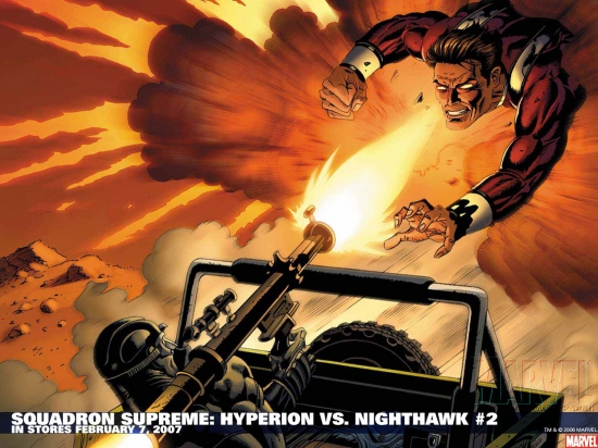 Squadron Supreme: Hyperion Vs. Nighthawk (2007) #2 Wallpaper