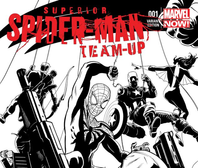 SUPERIOR SPIDER-MAN TEAM-UP 1 PARTY SKETCH VARIANT (WITH DIGITAL CODE)