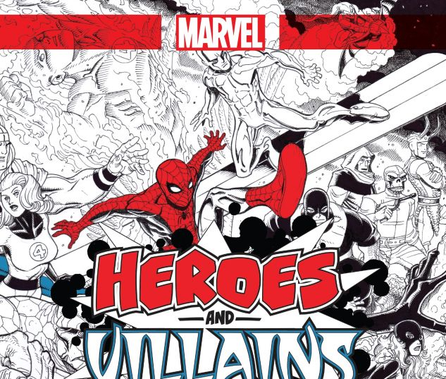 Marvel Heroes & Villains: A Marvel Comics Adult Coloring Book ...