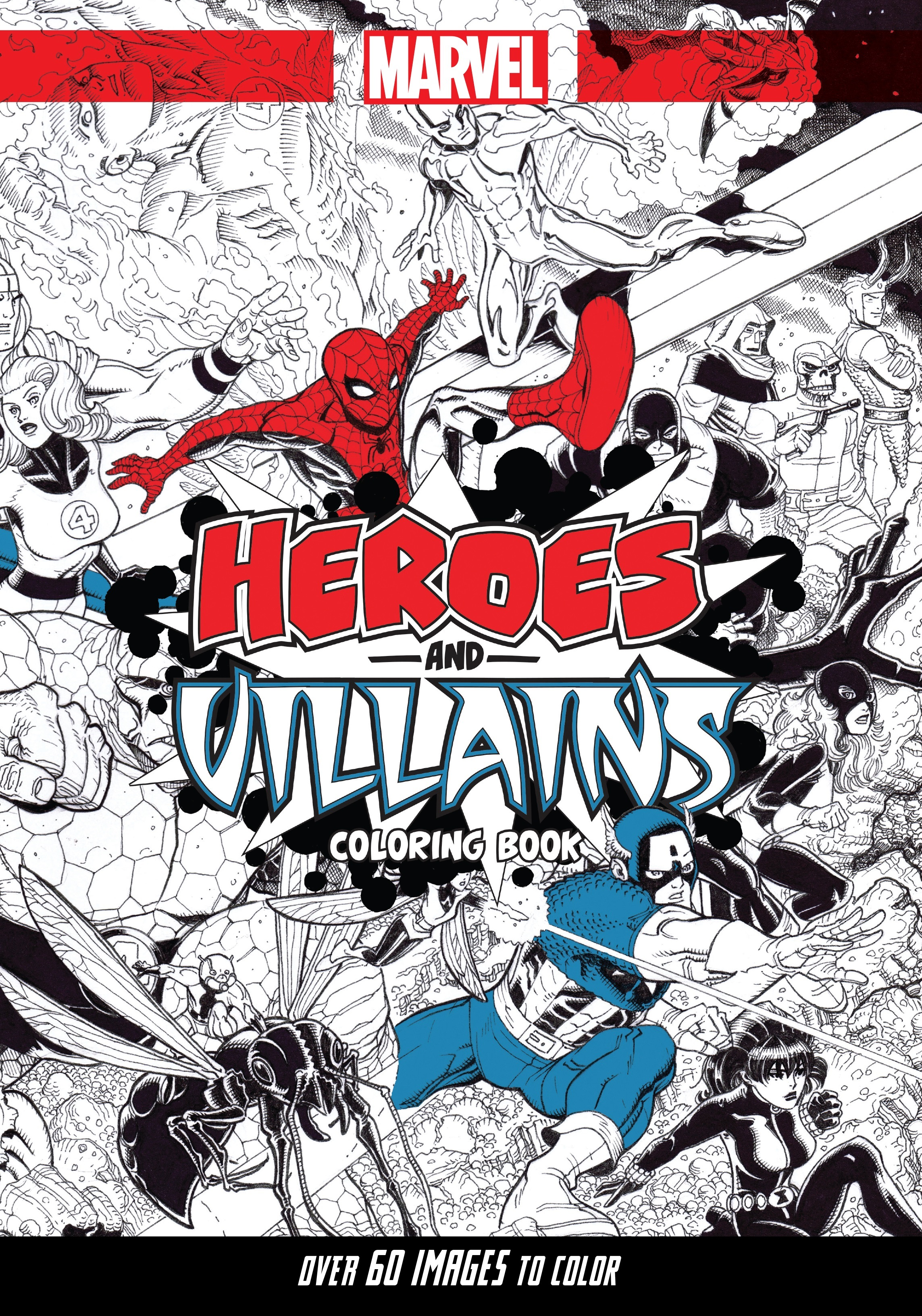 Marvel Heroes & Villains: A Marvel Comics Adult Coloring Book (Trade ...