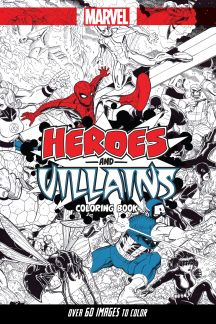 marvel heroes villains a marvel comics adult coloring book trade paperback - Marvel Coloring Books