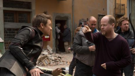 Jeremy Renner's performance of Hawkeye being directed by Joss Whedon on the set of Marvel's Avengers: Age of Ultron