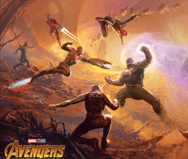 cover from MARVEL'S AVENGERS: INFINITY WAR - THE ART OF THE MOVIE HC (2018) #1