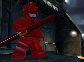 Daredevil guards the rooftops in LEGO Marvel Super Heroes