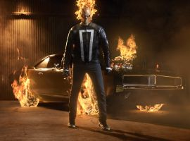 First Look of Gabriel Luna as Ghost Rider in Marvel's Agents of S.H.I.E.L.D.