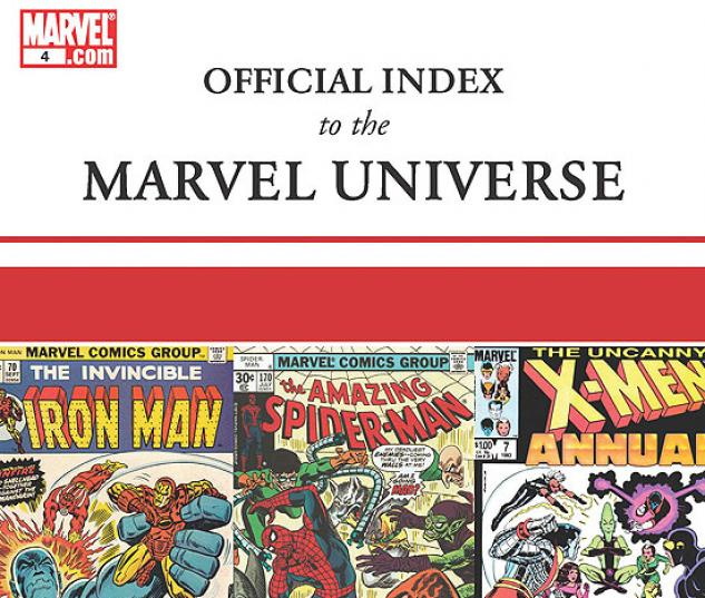 OFFICIAL INDEX TO THE MARVEL UNIVERSE #4
