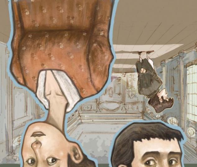 SENSE & SENSIBILITY #5 cover art by Sonny Liew