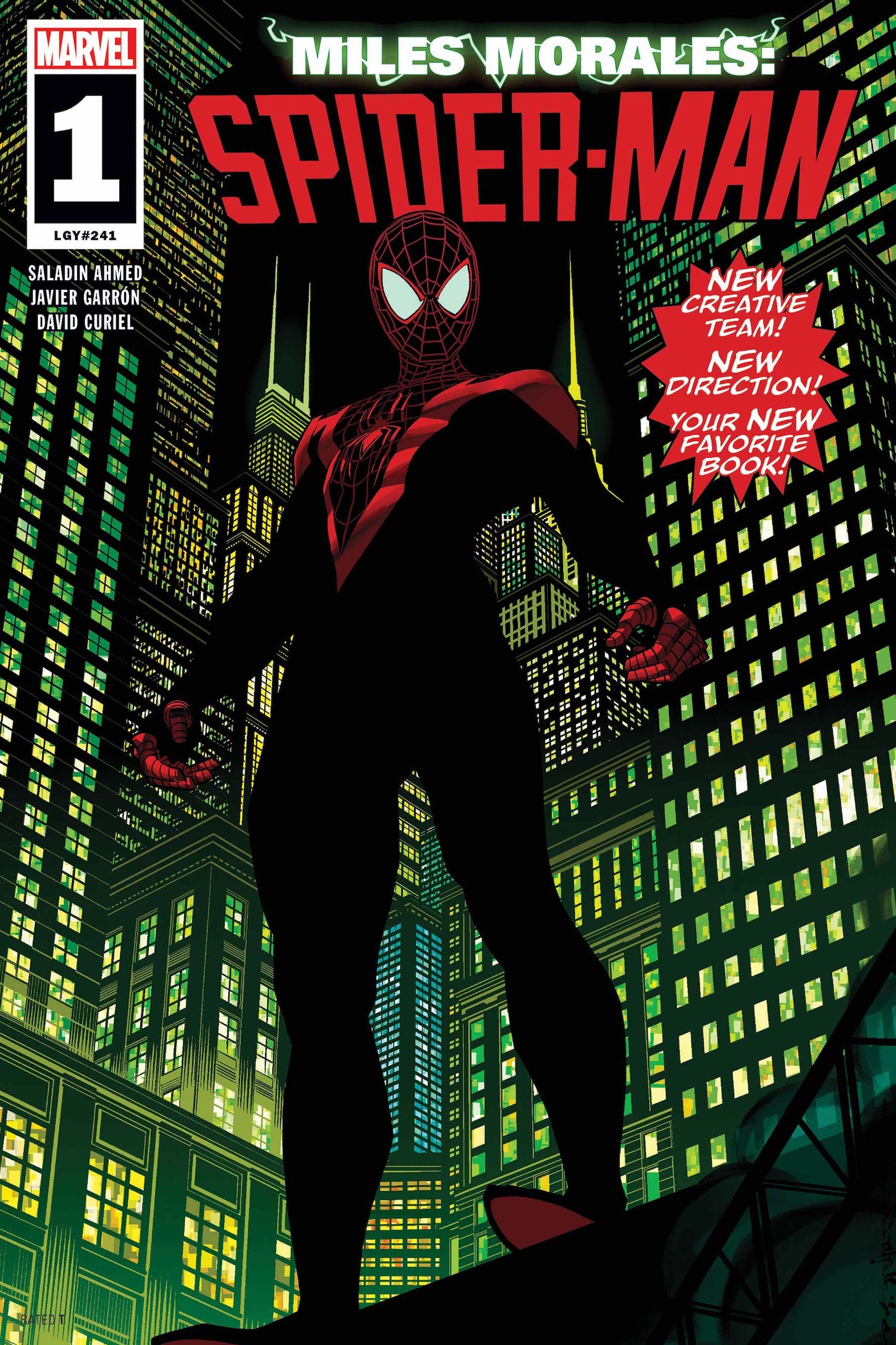 DeVonta Smith by Francesco Manna and Carlos Lopez, after MILES MORALES: SPIDER-MAN #1 byBrian Stelfreeze