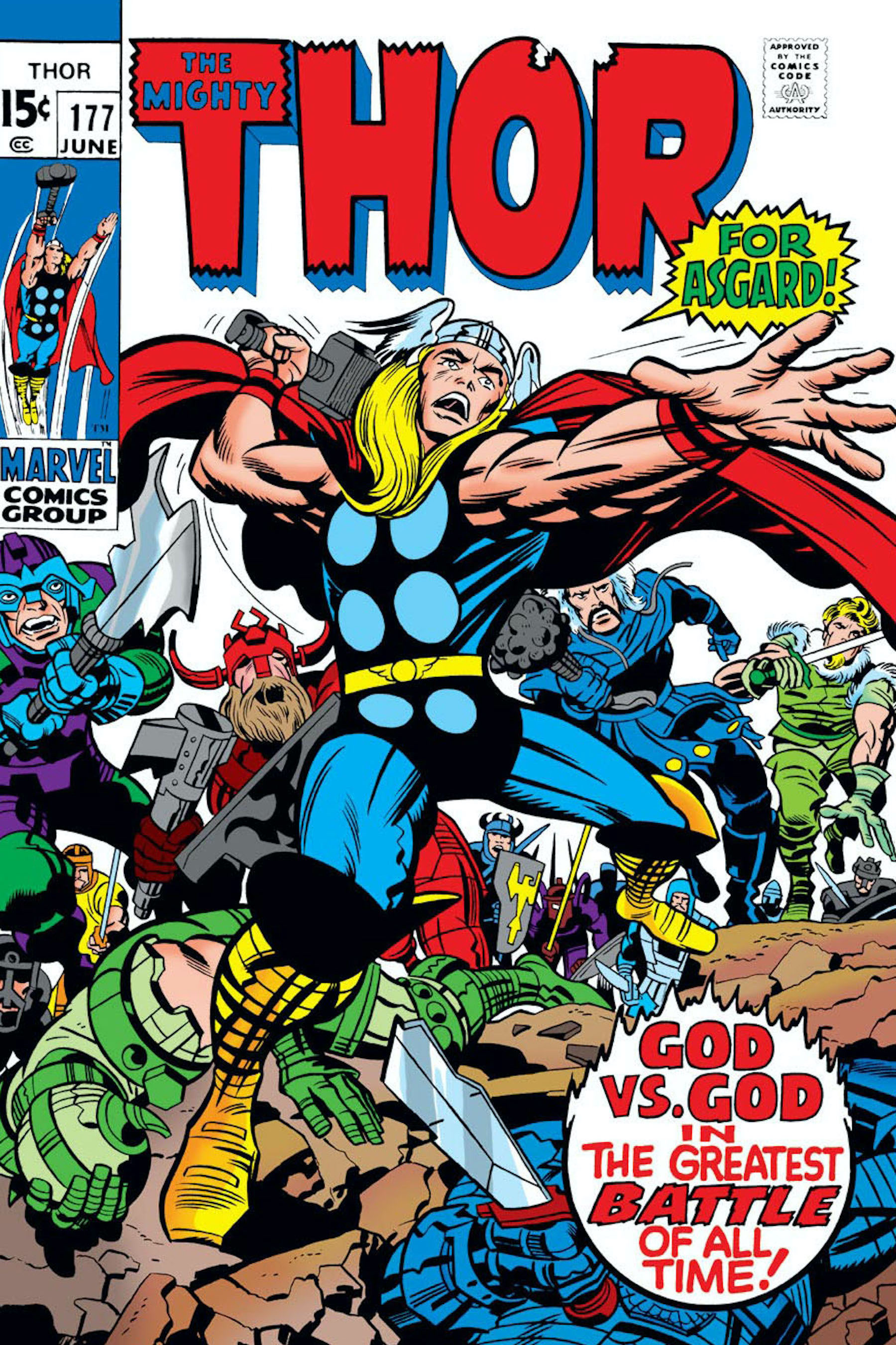 Trevor Lawrence by<strong>Wellington</strong>Alves, after THOR #177 by Jack Kirby